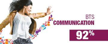 Taux de résussite du BTS Communication du CIEFA Lyon